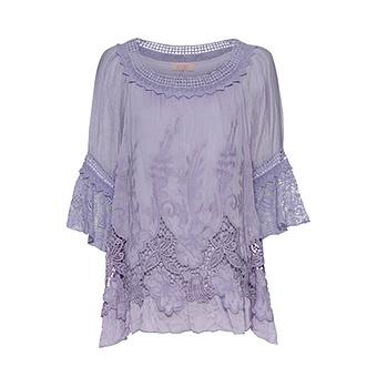 Bluse mit Stickerei, lilac