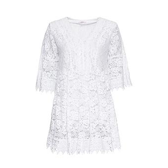 Bluse aus Floral-Spitze, weiß