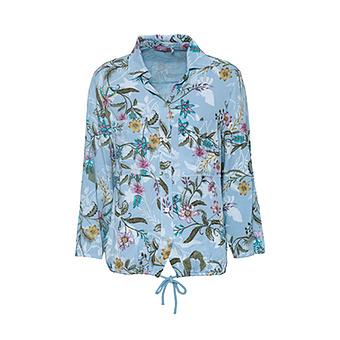 Bluse mit Floral-Print, eiskristall