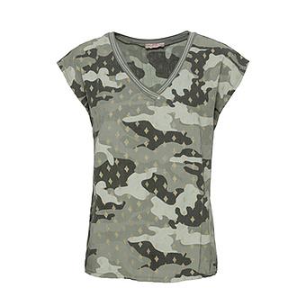 Shirt in Camouflage-Optik, khaki