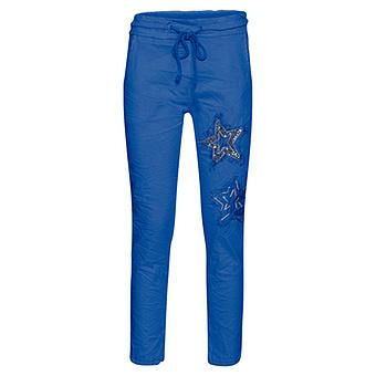 Joggpant mit Stern-Patch, blue glow