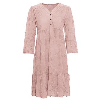 Kleid mit Stickerei, rosenholz