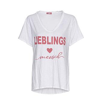 Shirt 'Lieblingsmensch', weiß