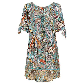 Kleid mit Carmen-Ausschnitt, sea salt