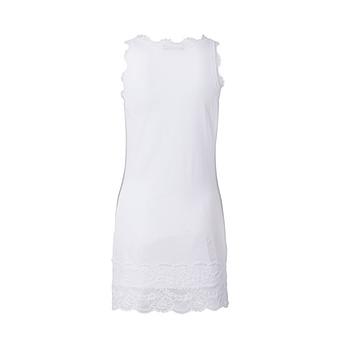 Basic Top aus Viskose 76cm, weiß