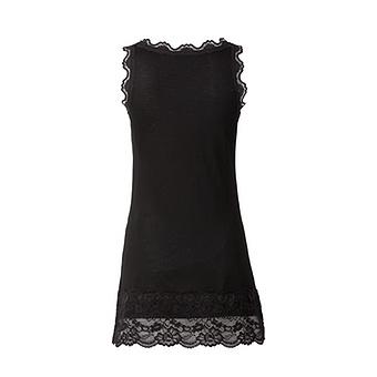Basic Top aus Viskose 76cm, schwarz