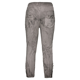 Jogger-Pants in Batik Optik 55cm, taupe