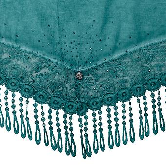 Schal mit Glitzersteinen, smaragd