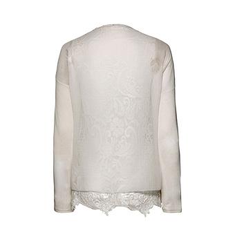 Transparente Bluse, offwhite