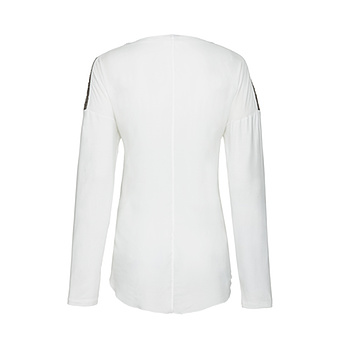 Bluse mit Pailletten, offwhite