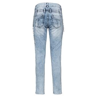 Jeans mit Glitzersteinen 72cm, light wash denim