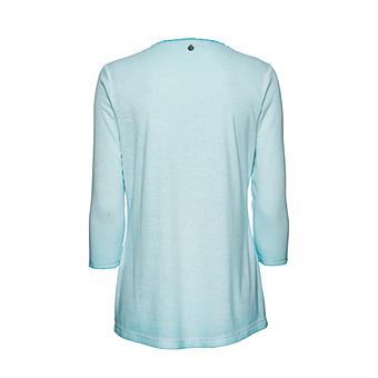 Basic Shirt mit Pailletten, ozean