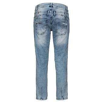 Jeans mit Reißverschluss 64cm, light blue