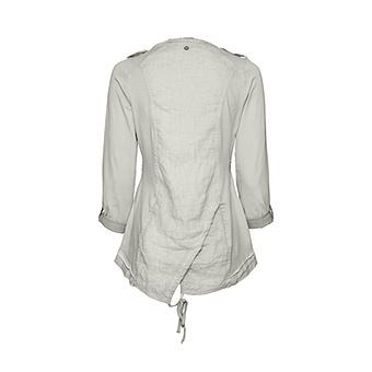 Shirtjacke mit Druckknöpfe, marmor