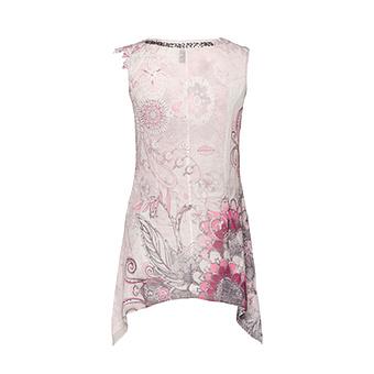 Top im Floralprint, baby pink
