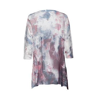 Oversized Shirt mit Schmucksteinen 3/4 Arm, blau