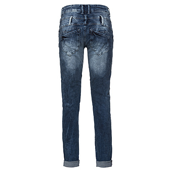 Jeans mit Pailletten-Patches 80cm, denim