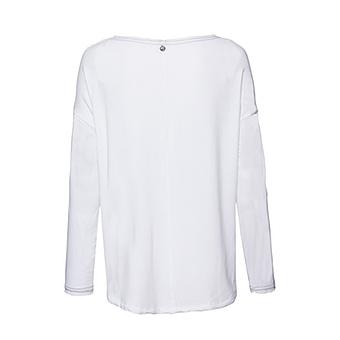 Basic Shirt mit Pailetten, weiß