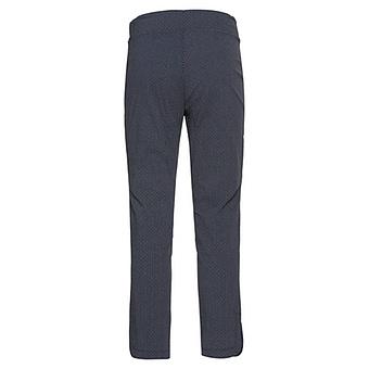 Stretch-Hose mit Floral-Muster, navy-weiß