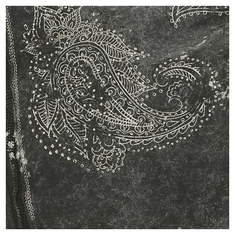 Bengalin mit Floral-Stickerei 76cm, olio
