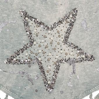 Schal mit Stern-Design, schilf