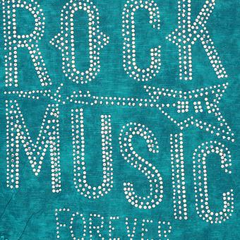 """Schal mit """"Rock Music""""-Design, lagune stone washed"""