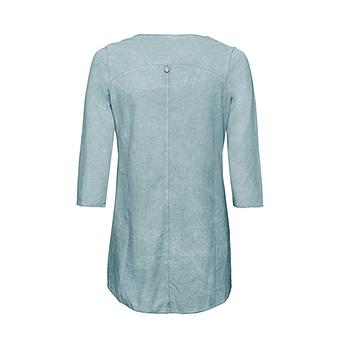 Basic Shirt mit Schmucksteinen, aquamarin