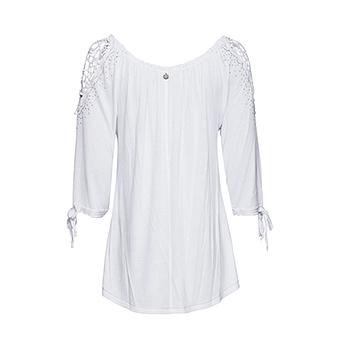Basic Shirt mit Viskose, weiss