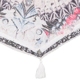 Schal mit Schmetterlingsprint, offwhite
