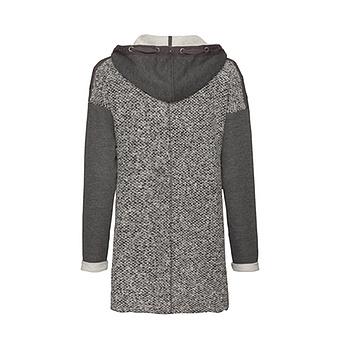 Strick-Jacke mit Schmuck-Elementen, grau