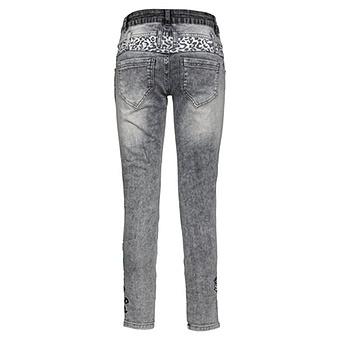 Sweat-Jeans mit bunten Patches 72cm, dark grey