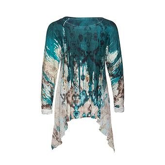 Shirt im Alloverprint und mit Glitzersteinen, ivy