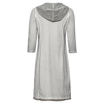 Kleid mit Glitzersteinchen, titan