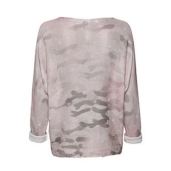 Leichter Strick-Pullover im Camouflage, rosenholz