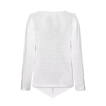 Pullover in Häkel-Optik, weiss