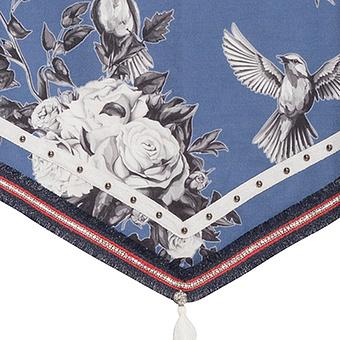 Schal mit Floral-Print, offwhite