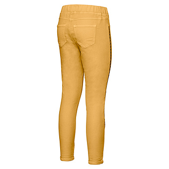 Sweat-Jeggings mit Glitzer- Galonstreifen 64cm, curry
