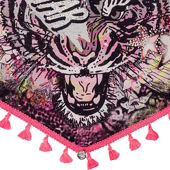 Schal im rockigen Design, schwarz
