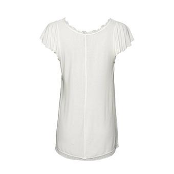 Basic Shirt aus Viskose, offwhite