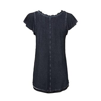Basic Shirt aus Viskose, navy