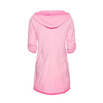 Basic Shirt mit Schmucksteinen, neonpink
