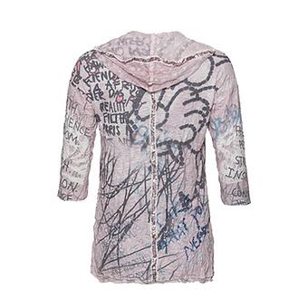 Crash-Shirt mit Viskose, rosenholz