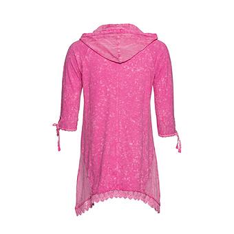 Kapuzenshirt mit Frontdesign, pink-rosé