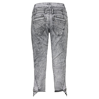 Sweat-Jeans mit Nieten 55cm, light grey crashed