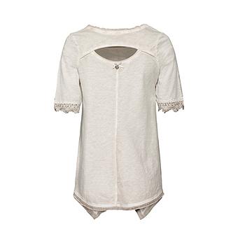 Shirt mit Frontprint, marmor