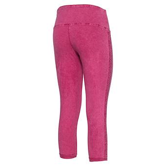 Baumwoll-Leggings mit Zierborte 55cm, pinkberry stonewash