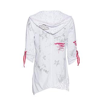 Shirt mit verschiedenen Designs, weiss