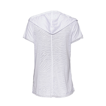 Shirt mit abtrennbarer Kapuze, weiss