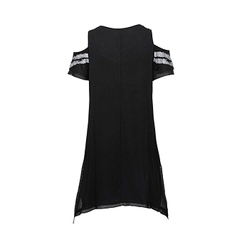Shirt mit Cut-Out, schwarz
