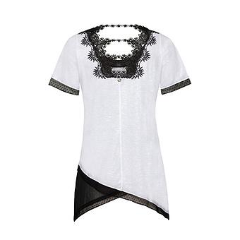 Shirt mit Print, weiss